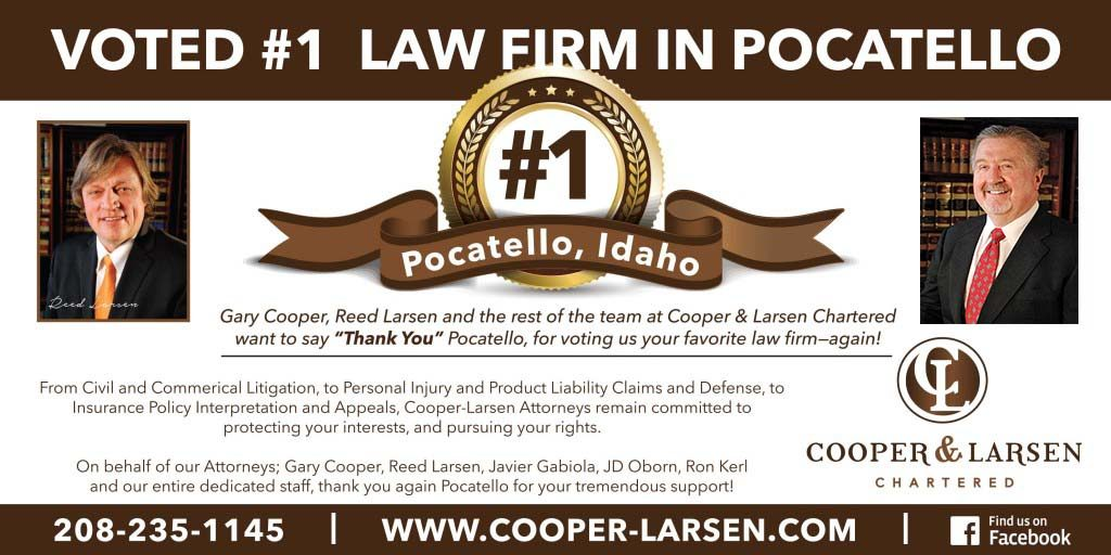 Cooper Larsen Readers Choice Pocatello Attorneys